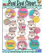 Little Yorkie Birthday Clip Art - $1.25