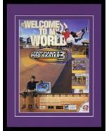2001 Tony Hawk Pro Skater 3 Game Boy Framed 11x14 ORIGINAL Vintage Adver... - $34.64