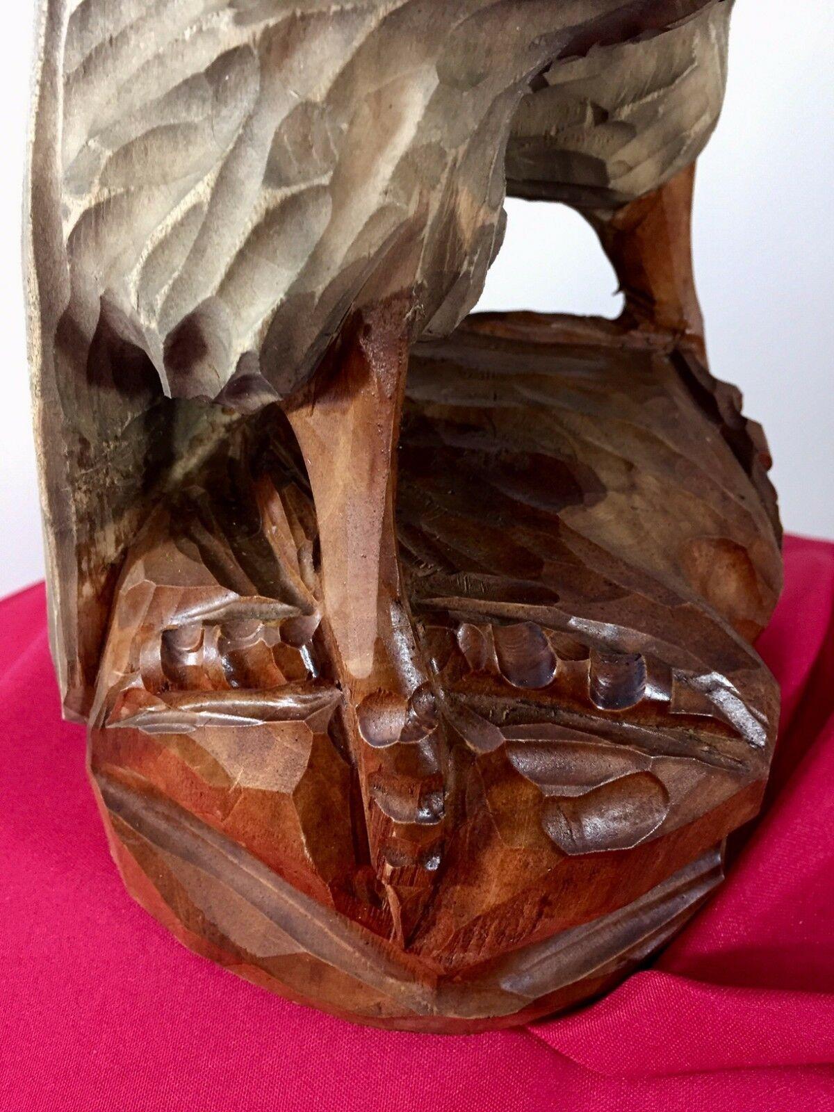 Mid century Black Forest German Eagle wood carved hunting deco design bauhaus image 8