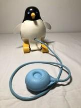 Vtg fisher price pull toy squeaky penguin 1973. Moving Eyes Beak. - $10.69