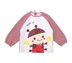 Cotton Cute Cartoon Lion Baby Bib Kids Painting Smock PINK Bee(100-120CM Height)