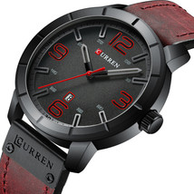 CURREN 8327 Casual Style Date Display Men Wristwatch Leather Band Quartz... - $19.89
