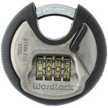 Wordlock 4-dial Combination Discuss Padlock HBCLPL074SN - $19.51