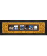 Personalized St. Olaf College Campus Letter Art Framed Print - $39.95