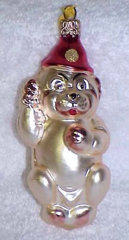 Primary image for Vintage Glass Dog Christmas Tree Ornament W. Germany NOS
