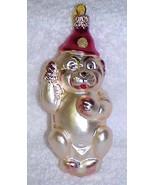 Vintage Glass Dog Christmas Tree Ornament W. Germany NOS - $15.00