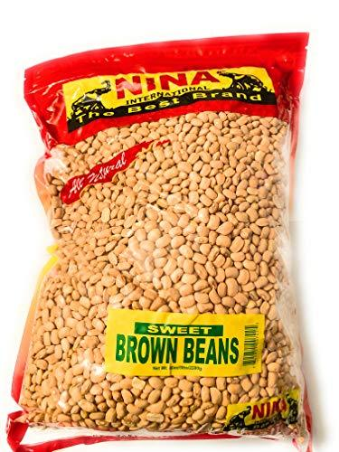Nina Nigerian Sweet Brown Beans 5lb bag