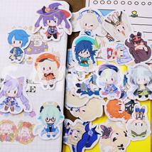 24Pcs Genshin Impact Stickers Venti Diluc Suitcase Bag Laptop Phone Car ... - $9.49