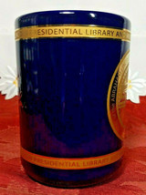 VINTAGE PRESIDENTIAL LIBRARY & MUSEUM SEAL OF ABRAHAM LINCOLN MUG GOLD FOIL BLUE image 2