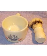 Vintage Old Spice Glass Shaving Mug and Lather Brush - $14.95