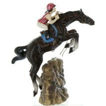 Hagen Renaker Specialty Horse Jumping with Rider Ceramic Figurine image 7