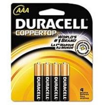 Duracell MN2400B4Z Coppertop AAA Alkaline Battery - 4-Pack - $22.68