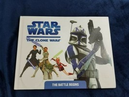 Star Wars the Clone Wars the battle begins hardback children's book 11 b... - $11.88