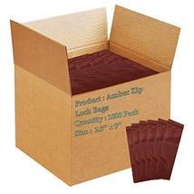 "1000 Pack Amber Zip Lock Seal Top Bags 2.5"" x 9"" 3 Mil - $62.78"