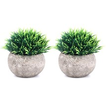 The Bloom Times 2 Pcs Fake Plant for Bathroom/Home Office Decor, Small A... - $30.00