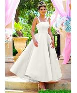 Popular Satin Square Neckline Ankle-length Ball Gown Bridesmaid Dress w/... - $155.98+