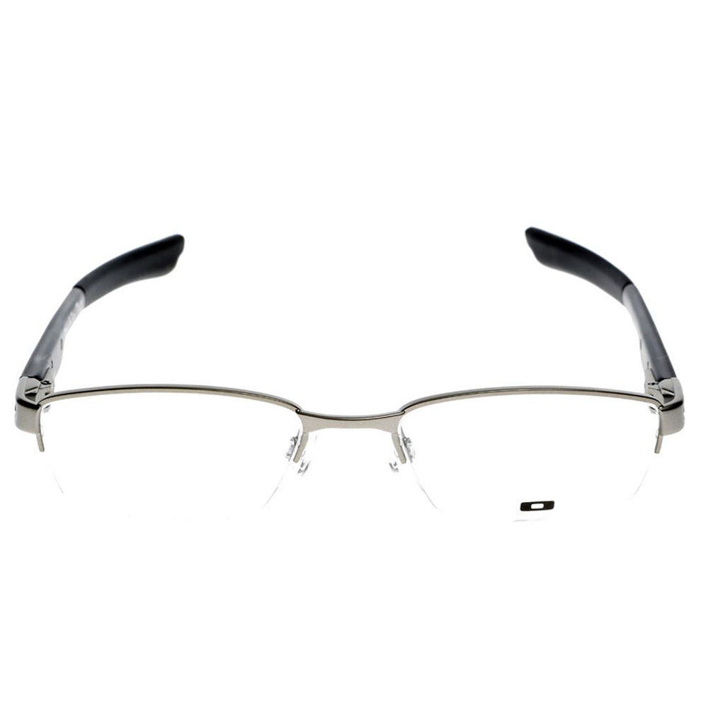 0a5d99498ff Oakley OX 3123 0451 Double Tap 51-18-140 Brushed Chrome and Black Eyeglasses