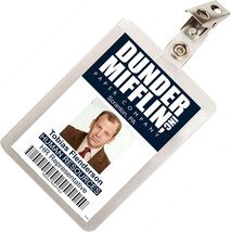 The Office Toby Flenderson Dunder Mifflin ID Badge Cosplay Costume Name ... - $9.99