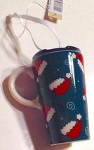 Christmas Ornament Porcelain Holiday Travel Coffee Mug New - $10.84