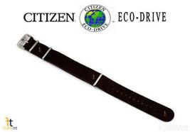 Citizen Eco-Drive 22mm Dunkelbraunes Leder Uhr Band Armband S109418 AW70... - $62.38