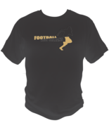 New Orleans Football Sports Style Graphic T Shirt Black Red White L XL 2XL - $19.99