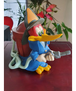 Extremely Rare! Woody Woodpecker Fireman Old Figurine Bank Statue - $297.00