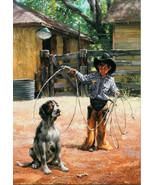Six Note Cards Learning The Ropes by Jack Sorenson Western Kids Children... - $29.69