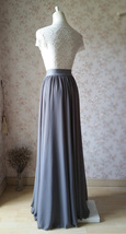 GRAY Wedding Skirt and Top Set Plus Size Two Piece Bridesmaid Skirt and Top image 6