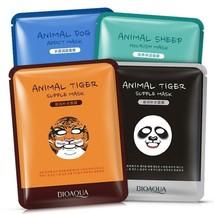 4PCS BIOAQUA Tiger Panda Sheep Dog Animal Face Mask Deep Moisturizing Sh... - $6.99