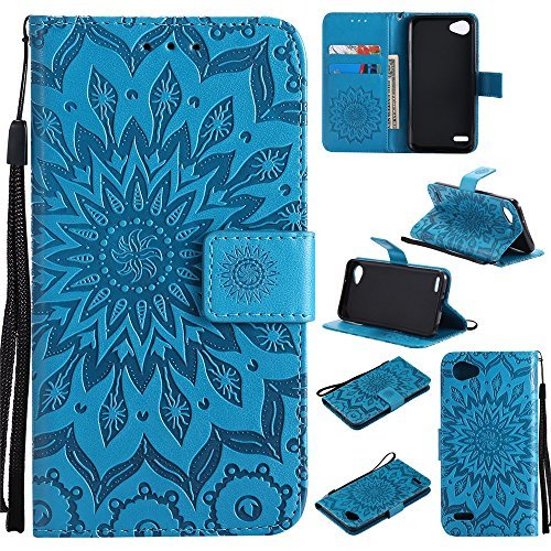XYX Wallet Case for LG Q6, Sunflower PU Leather Phone Wallet Case for LG Q6/LG G