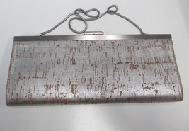BANANA REPUBLIC Sliver Distresses Look Clutch W... - $31.19