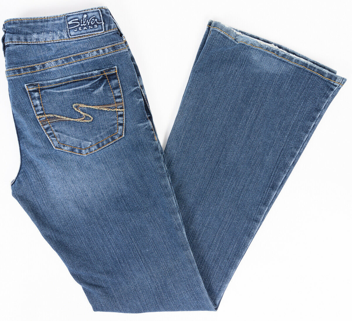 Primary image for Silver Aiko Bootcut Womens Jeans Medium Wash Size 28/33