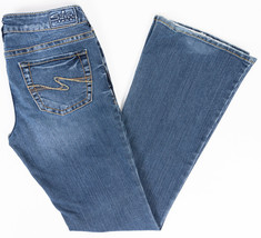 Silver Aiko Bootcut Womens Jeans Medium Wash Size 28/33 - $24.47