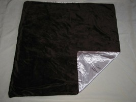 Baby Blanket Chocolate Brown Mink/Minky Pink Satin Solid Plain Girl Soft Silky - $49.49