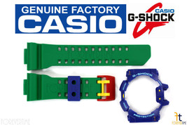 CASIO G-Shock GA-400-2A Original Green Rubber BAND & Blue BEZEL Combo - $42.70