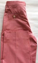Nautica Kid Girl Dress Pants Slacks Preppy Sz 14 Cotton Red Flat Oxford ... - $25.75