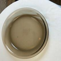 "VINTAGE PYREX BROWN AMBER SMOKE GLASS 9"" PIE PLATE 209 BAKING DISH PAN - $4.95"