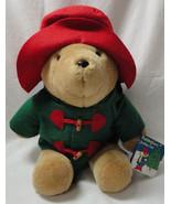PADDINGTON Bear Sears 1996 Board Book Green jacket red hat Christmas Hol... - $19.99