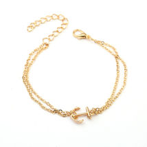 GOLDEN ANCHOR BRACELET  ****   # 9771 COMBINED SHIPPING ALWAYS - $4.75