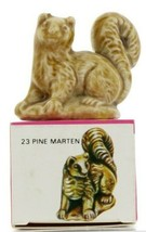 No.23 Pine Marten Miniature Porcelain Figurine Picture Box Whimsies by Wade
