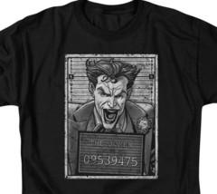 DC Comics The Joker Mug Shot Graphic Tee Retro Suicide Squad Batman BM2556B image 2