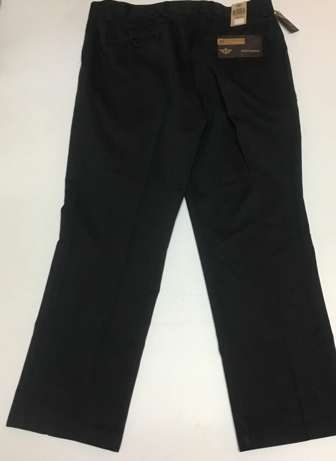 Dockers Never Iron Khaki Pants Black Men's 38/30