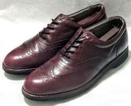 Rockport DresSports Vibram Brown Leather Wingtip Brogue Oxford Shoes Men's 7.5 M - $39.59