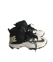 Nike Mens Flywire Football Cleats Size 11 Black White 603350-100 High Tops - $27.89