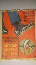 "Gotzian ""Worlds Work Shoe"" Hiawatha Series Number 8 Stamp - $12.19"