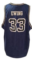 Patrick Ewing #33 College Basketball Jersey Sewn Blue Any Size image 4