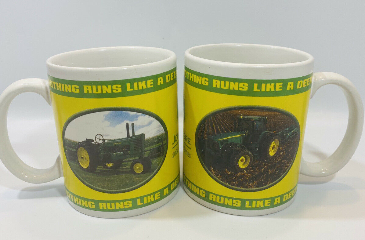 John Deere 2004 Collector Series Mugs Tractors Americana Set Of 2 Licensed - $13.76