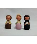 Mayr & Fessler 3 Miniature Wood Doll People - $23.76