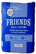 Friend Adult Diapers Size XL Waist 48-68 Inches 10 Diaper High Absorbency Diaper - $37.00