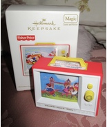 HALLMARK 2012 FISHER PRICE TWO TUNE TV  MAGIC CHRISTMAS ORNAMENT MOTION NIB - $17.95